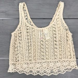 🖤3/$30 mimi chica crochet cropped tank top small